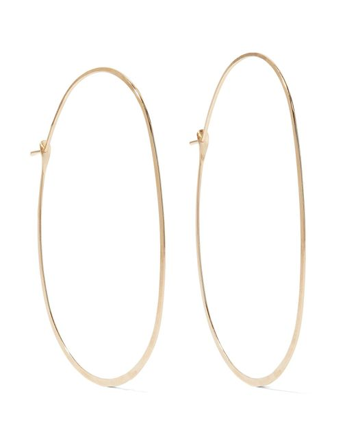 Melissa Joy Manning | Metallic 14-karat Gold Hoop Earrings | Lyst