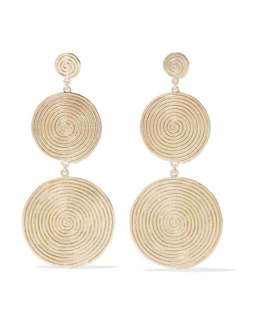 Elizabeth and James - Metallic Lorelai Gold-plated Earrings - Lyst