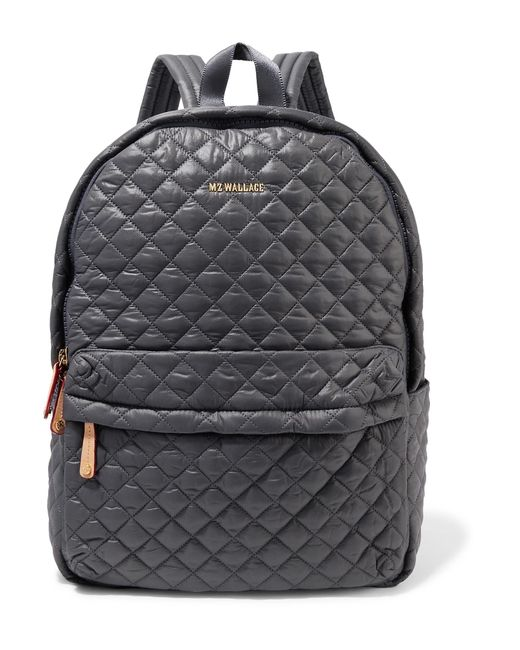 MZ Wallace | Gray Metro Medium Leather-trimmed Quilted Shell Backpack | Lyst