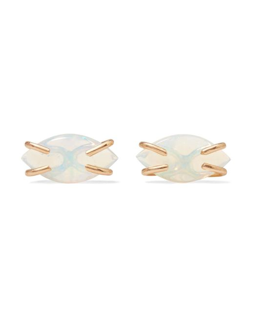 Melissa Joy Manning - Metallic 14-karat Gold Opal Earrings - Lyst