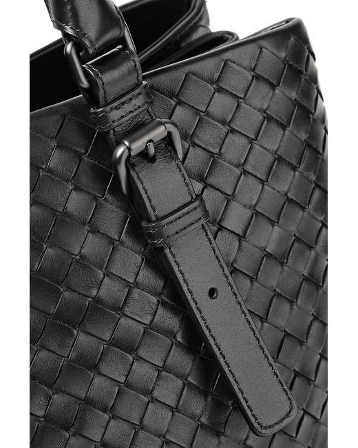 9ea752d605 ... Bottega Veneta - Black Roma Large Intrecciato Leather Tote - Lyst ...