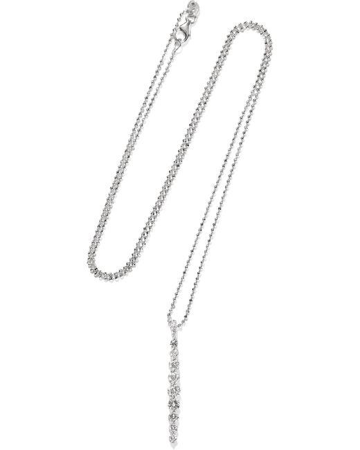 Anita Ko - Metallic Twiggy 18-karat White Gold Diamond Necklace - Lyst