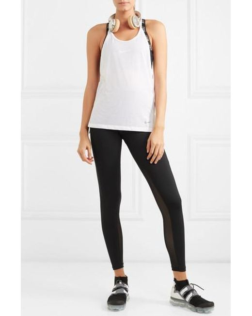 9f6f3c5a08c590 ... Nike - Black Power Pocket Lux Mesh-panelled Dri-fit Stretch Leggings -  Lyst ...