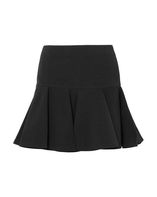 Chloé - Black Pleated Crepe Mini Skirt - Lyst