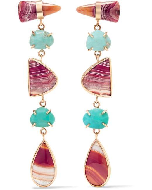 Melissa Joy Manning | Metallic 14-karat Gold Multi-stone Earrings | Lyst