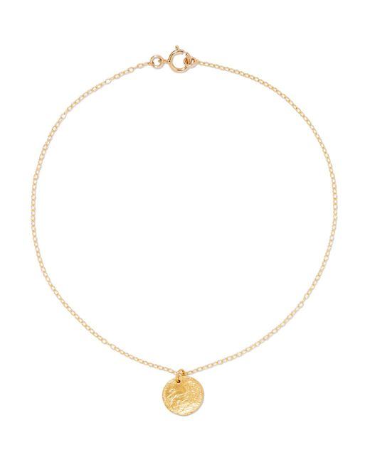 Alighieri - Metallic Baby Lion Gold-plated Anklet - Lyst
