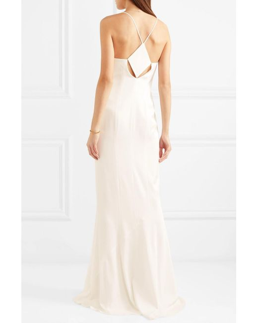 Deals Cutout Satin Gown - White Galvan Cheap Cost Wj5wOY7E