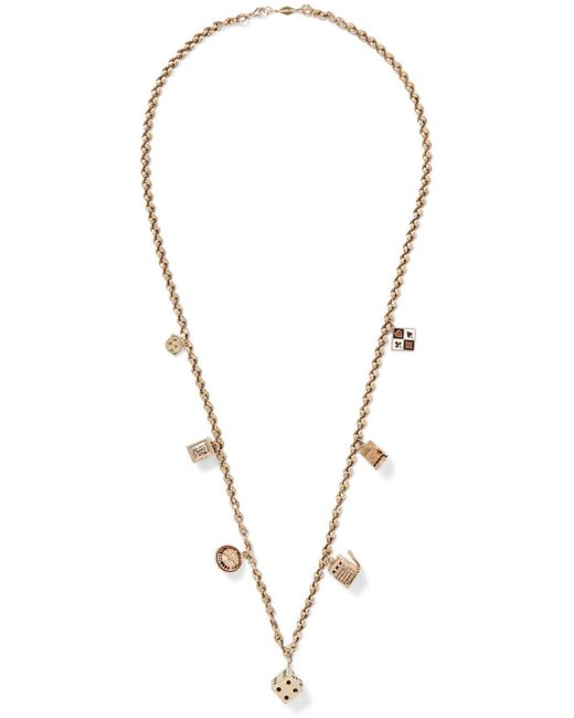 Fred Leighton | Metallic 20th Century 14-karat Gold Enameled Necklace | Lyst