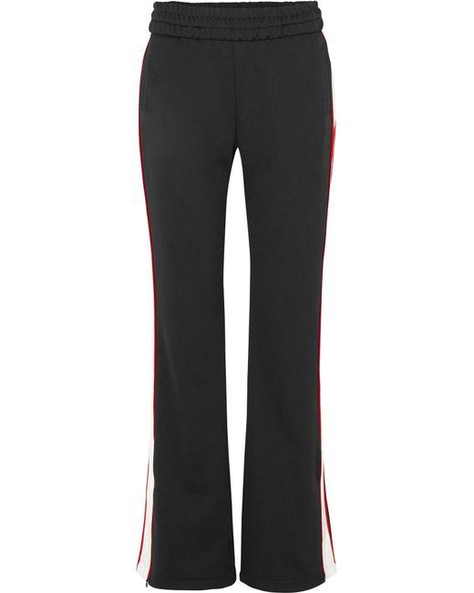 Off-White c/o Virgil Abloh - Black Striped Satin-jersey Track Pants - Lyst