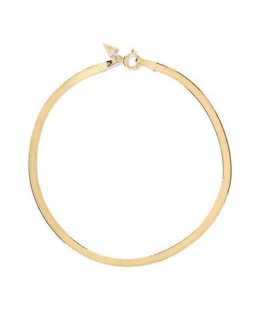 Loren Stewart - Metallic Herringbone 10-karat Gold Bracelet - Lyst