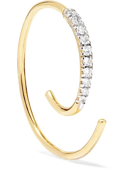 Maria Black - Metallic Loop 14-karat Gold Diamond Earring - Lyst