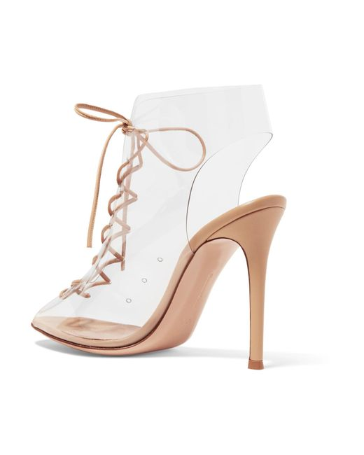 Helmut Plexi 100 Lace-up Pvc And Leather Ankle Boots - Neutral Gianvito Rossi FNUC5R