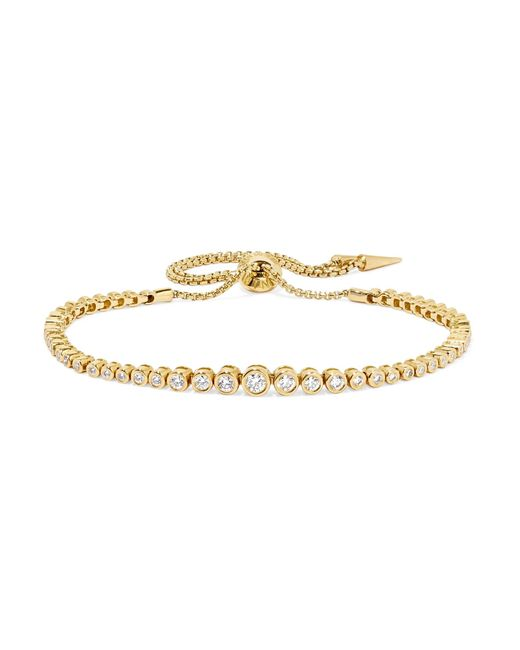Jemma Wynne | Metallic 18-karat Gold Diamond Bracelet | Lyst