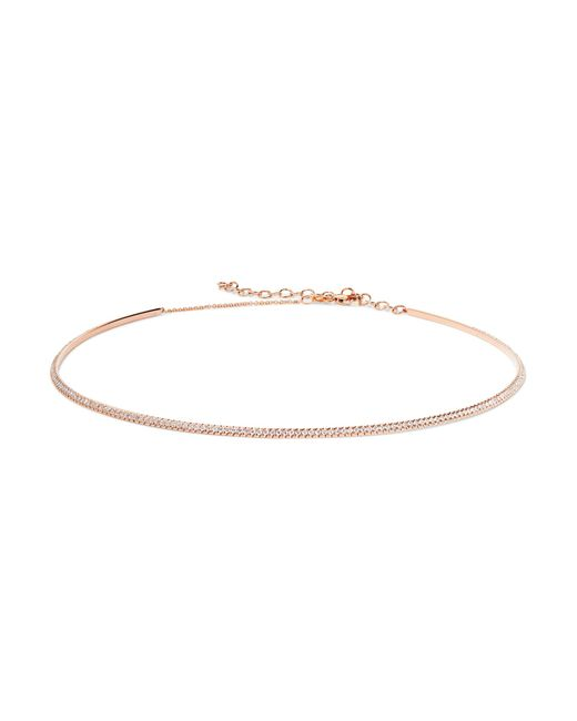 Diane Kordas | Metallic Bar 18-karat Rose Gold Diamond Choker | Lyst