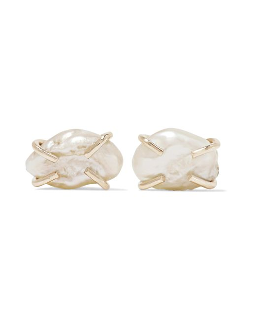 Melissa Joy Manning | Metallic 14-karat Gold Pearl Earrings | Lyst