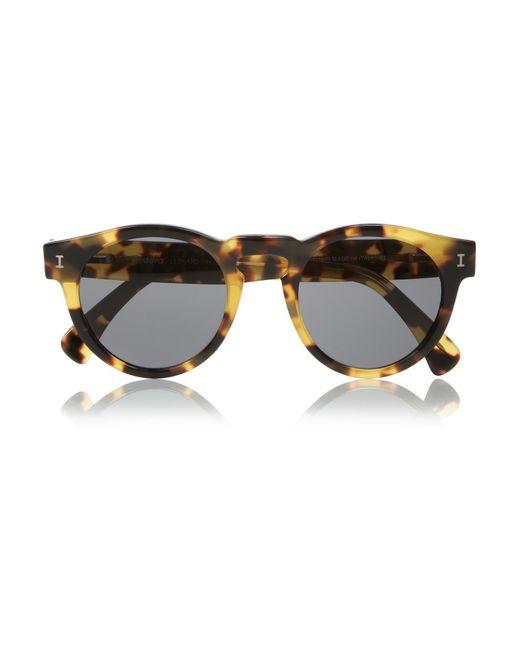 Illesteva - Gray Leonard Round-frame Acetate Sunglasses - Lyst