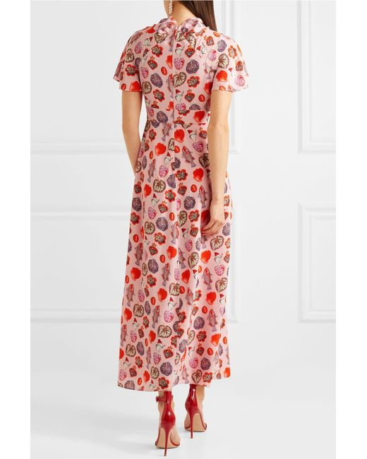 Elixir Printed Crepe Maxi Dress - Baby pink Temperley London Shopping Online Outlet Sale Sale Pictures Buy Cheap 2018 Newest Cost fY61t