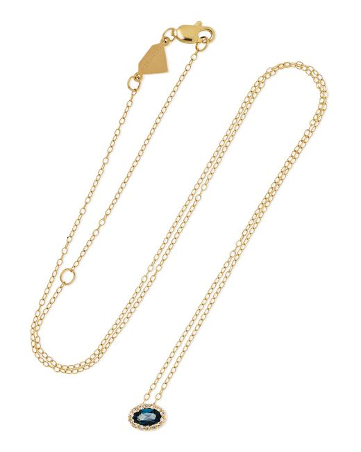 Alison Lou - Metallic 14-karat Gold, Topaz And Diamond Necklace - Lyst