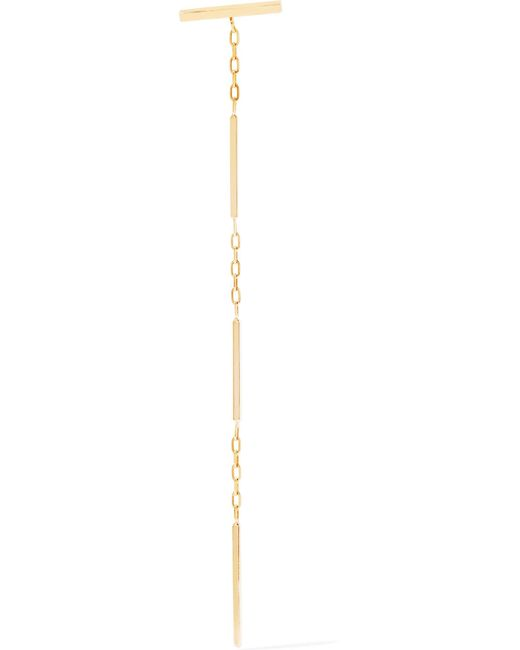 Hirotaka Toggle Chain 10-karat Gold Earring 7AcPth4d