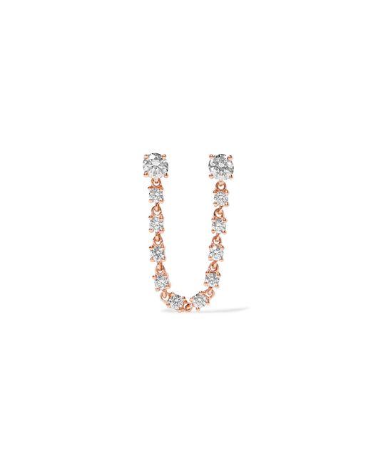 Anita Ko | Metallic 18-karat Rose Gold Diamond Earring | Lyst