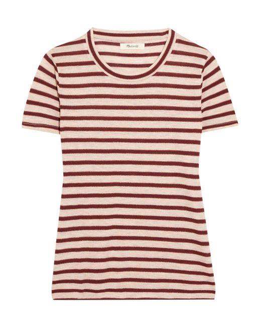 Madewell - Red Garrett Metallic Striped Jersey T-shirt - Lyst