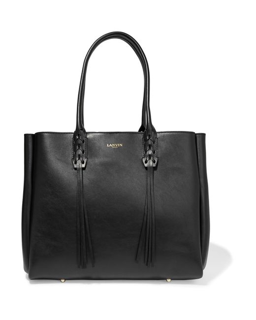 Lanvin | Black The Shopper Small Leather Tote | Lyst