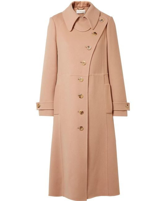 Chloé | Multicolor Wool And Cashmere-blend Trench Coat | Lyst