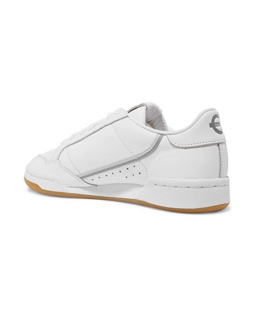 08d828da318d ... Adidas Originals - White + Tfl Continental 80 Grosgrain-trimmed Leather  Sneakers - Lyst ...