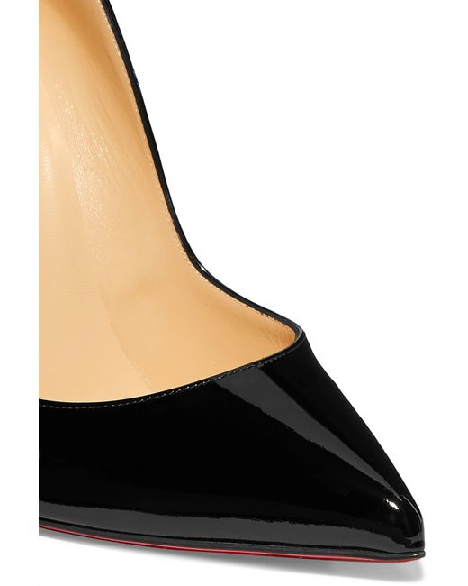 51dbada3f6d ... Christian Louboutin - Black Hot Chick 100 Patent-leather Pumps - Lyst