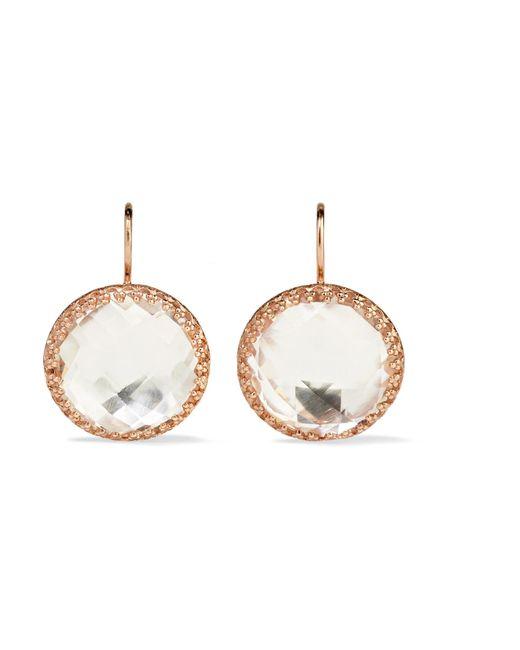 Larkspur & Hawk - Metallic Olivia Button Rose Gold-dipped Topaz Earrings - Lyst