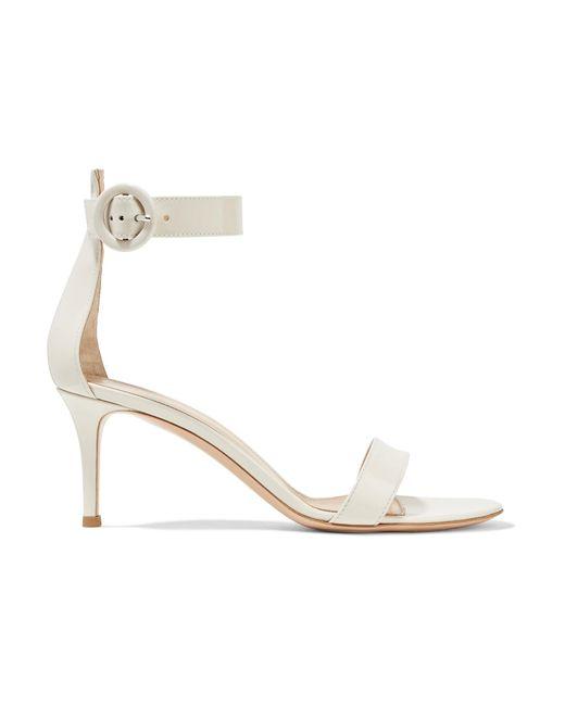 Gianvito Rossi | White Portofino Patent-leather Sandals | Lyst