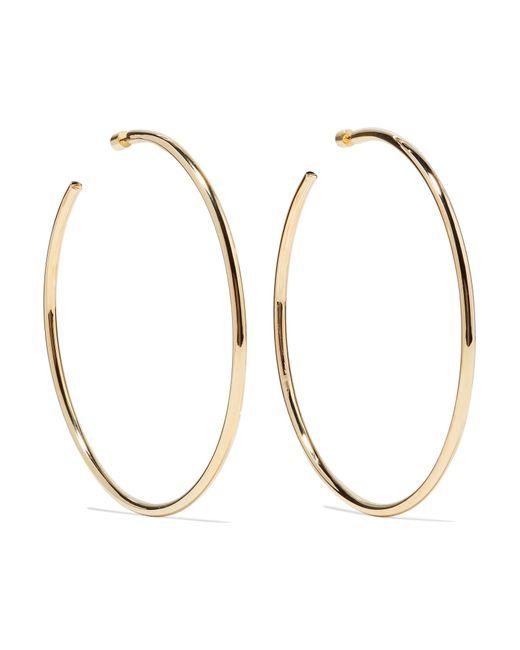 Jennifer Fisher - Metallic Lilly Gold-plated Hoop Earrings Gold One Size - Lyst