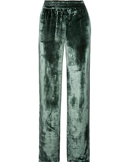 J Brand   Green Ardon Velvet Wide-leg Pants   Lyst