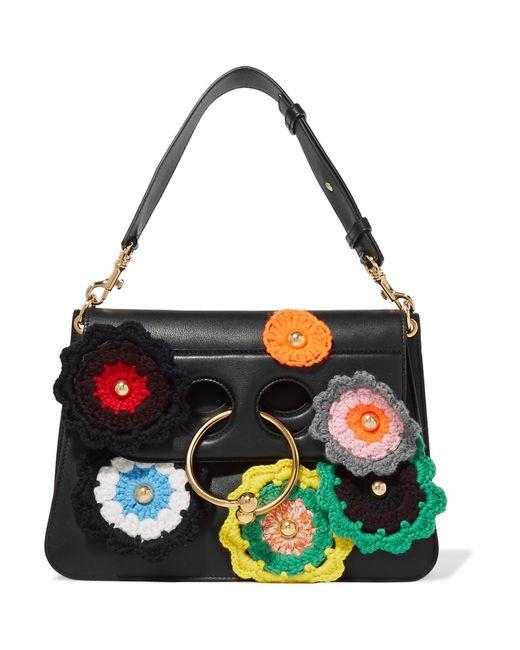 J.W. Anderson | Black Pierce Medium Embellished Leather Shoulder Bag | Lyst