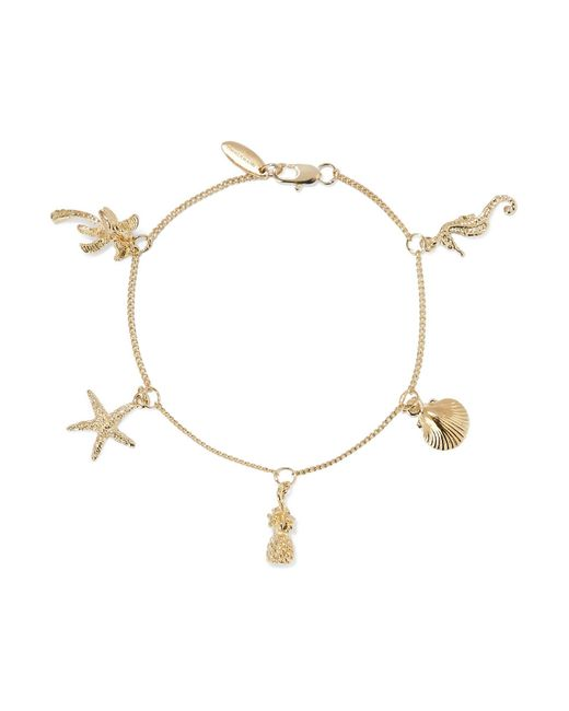 Zimmermann - Metallic Tropical Charm Gold-plated Bracelet - Lyst