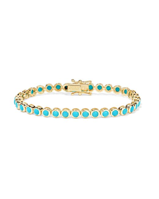 Jennifer Meyer | Metallic 18-karat Gold Turquoise Bracelet | Lyst