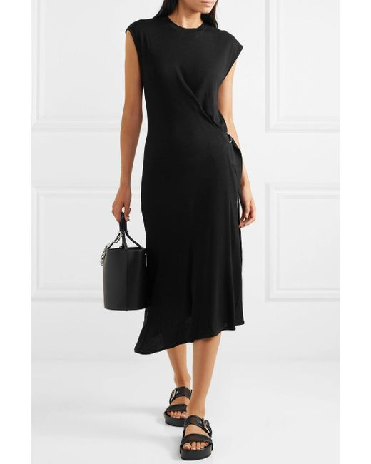 Ophelia Asymmetric Stretch-knit Midi Dress - Black Rag & Bone QvQn1ykz2