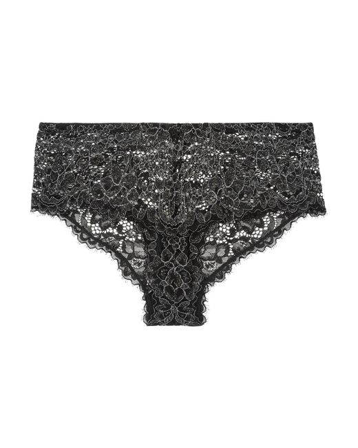 aa22ad90bc Cosabella - Black Pret-a-porter Metallic Stretch-lace Briefs - Lyst ...