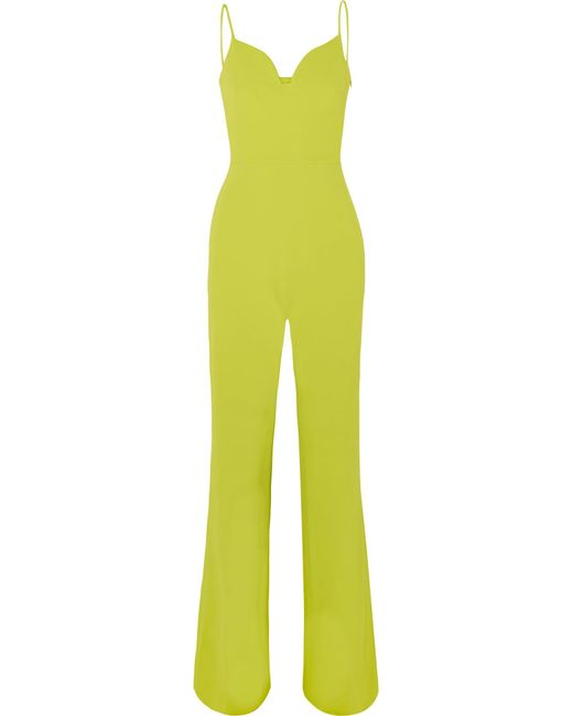 Brandon Maxwell - Yellow Stretch-crepe Jumpsuit - Lyst