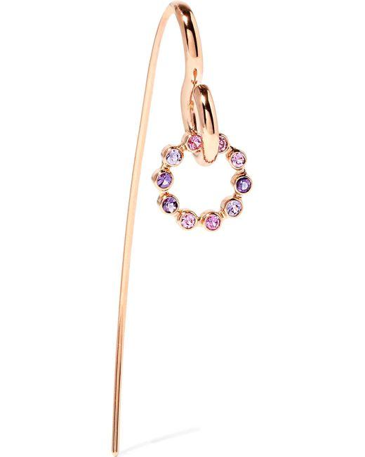 Charlotte Chesnais | Pink Swing 18-karat Rose Gold, Sapphire And Amethyst Earring | Lyst
