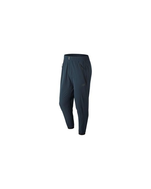 New Balance - Blue 247 Luxe Woven Pant for Men - Lyst