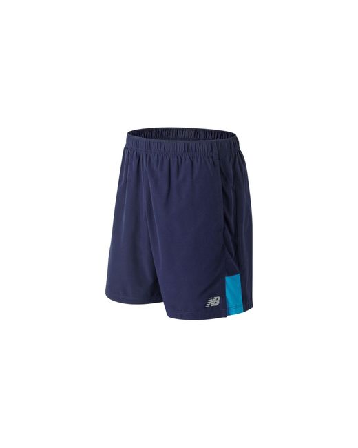 New Balance - Blue Accelerate 7 Inch Short for Men - Lyst