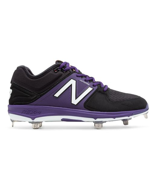New Balance Low Cut 3000v3 Metal Cleat In Purple For Men