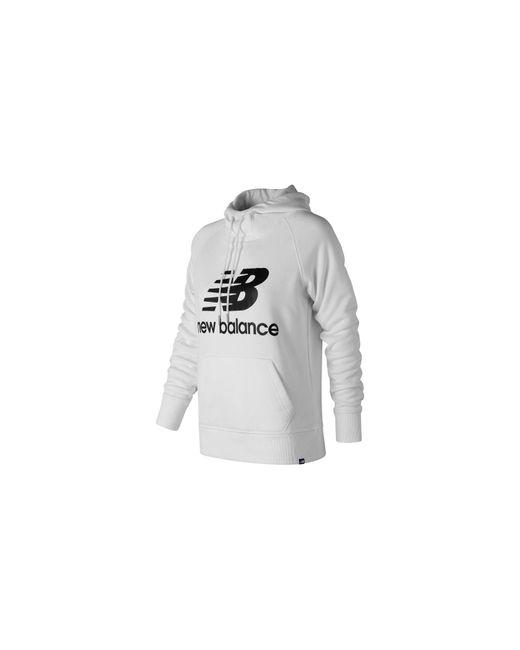 New Balance - White Essentials Pullover Hoodie - Lyst