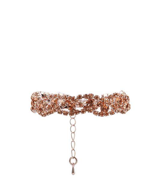New Look | Pink Crystal Plaited Bracelet | Lyst