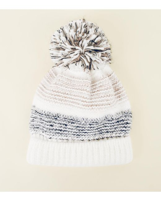 New Look - Multicolor Knitted Bobble Hat - Lyst 35e6bc770d0