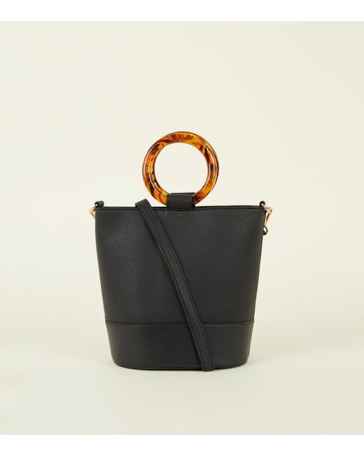a88c6d1c812a New Look Black Resin Ring Handle Bucket Bag in Black - Save 23% - Lyst