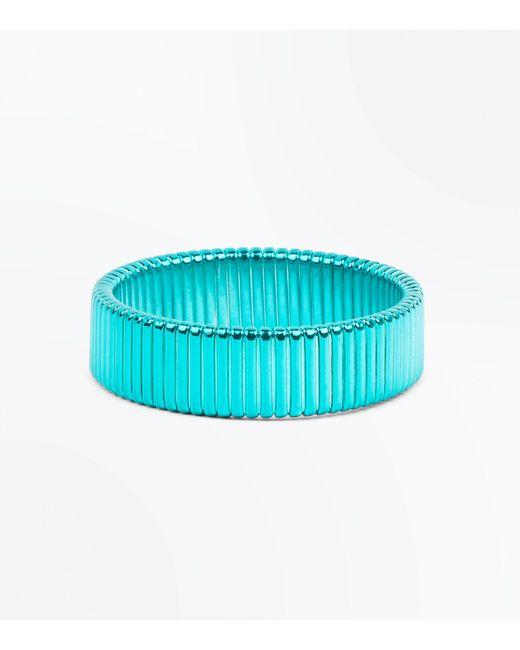 New Look | Blue Metallic Plates Bracelet | Lyst