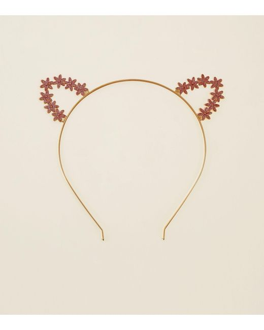 New Look - Multicolor Rose Gold Glitter Floral Cat Ears - Lyst