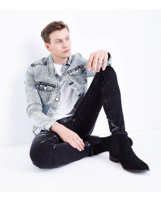 New Look | Black Tie Dye Super Skinny Jeans for Men | Lyst